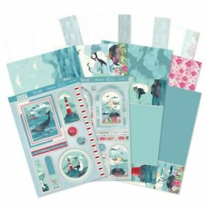 Hunkydory sailing seaside, die-cut 12 A4 sheets, card, toppers, inserts