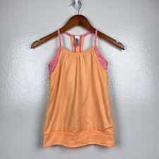 ivivva by Lululemon Women's Double Dutch Tank in Orange & Pink Size 10