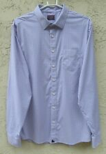 "~UNTUCKit MENS sz XXL ""BLUE & PINK PLAID"" L/S SHIRT~ 51"" CHEST TALL SLIM"