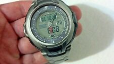 Men's Casio  PRG-80T Titanium  Pro Trek Triple Sensor watch