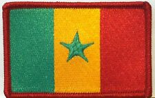 SENEGAL Flag Military Patch With VELCRO® Brand Fastener Red Border #7