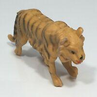 Vintage Hong Kong Plastic Toy Play Animal Figure Stripe Tiger Big Cat