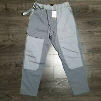 NIKE Sportswear Tech Pack Woven Cargo Pants Mens LARGE Joggers Grey Nikelab