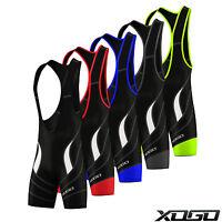 New Mens Pro Cycling Bib Shorts Coolmax® Padding Outdoor Cycle Gear Shorts