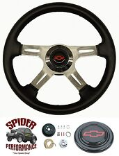 "1975-1986 Chevy C10 C20 C30 K10 K20 K30 steering wheel BOWTIE 4 SPOKE 14"" Grant"