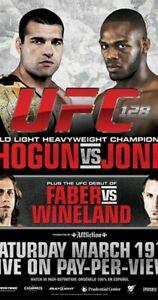 UFC 128 FULL SIZE POSTER SHOGUN VS JONES