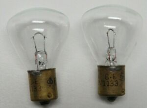 2 GE #1133 6V LIGHT BULBS 24W MADE IN USA NEW OLD STOCK