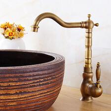 Classic Antique Brass Kitchen Sink Mixer Tap Bathroom Basin Swivel Faucet Bronze
