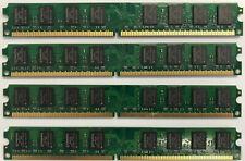 New listing 8Gb 4x 2Gb Pc2-6400 Ddr2 800Mhz Desktop Memory Ram Non-Ecc Dimm Dell Hp Lenovo