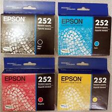 4-PACK Epson GENUINE 252 Black & Color Ink (RETAIL BOX) for WORKFORCE WF-3640