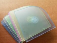 Lot of 10 CD Cases Computer Storage Damage Protection Discs Jewel Plastic Cases