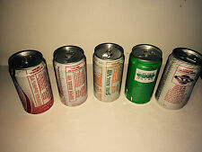 MIAMI DOLPHINS COMPLETE SUPER BOWL SODA COKE CAN SET NFL 1987 IMPOSSIBLE ISSUE!!