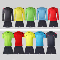Men's Adult Youth Soccer Football Referee Jersey Pants Uniforms Activewear Set