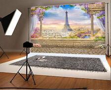 Paris Famous Eiffel Tower Background City Backdrop Vinyl Photography Prop 7X5FT