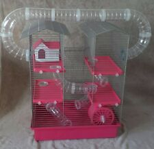 Large Cage for Hamster or Gerbil with accessories - pink