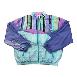 AUSTRALIAN L'ALPINA MULTI-COLOURED MADE IN ITALY TRACK SHELL JACKET SIZE 2XL