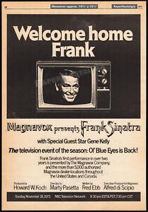 Magnavox Presents FRANK SINATRA__Orig. 1973 Trade AD promo_poster__Ol' Blue Eyes