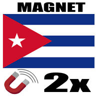 2 x CUBA Drapeau Magnet 6x3 cm Aimant déco CUBA  magnétique frigo