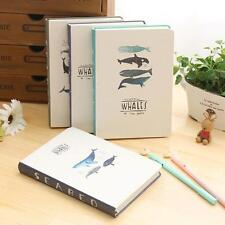 """""""Seabed Whales"""" 1pc Cute Notebook Hard Cover Diary Planner Journal Study Agenda"""