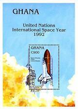 GHANA 1992 SPACE YEAR//SHUTTLE  S/S (block) SC#1502  MNH
