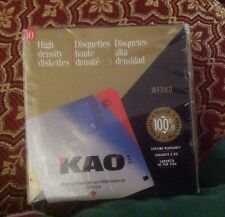 KAO Ten High Density Diskettes PC or Apple NEW -NOS