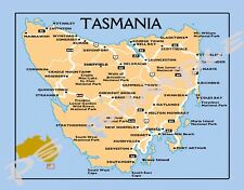 Australia - TASMANIA MAP - Travel Souvenir Flexible Fridge MAGNET