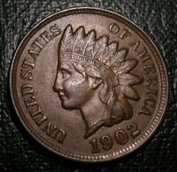 OLD US COINS 1902 INDIAN HEAD CENT PENNY FULL LIBERTY BEAUTY