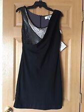 Badgley Mischka Cocktail Prom Party Black Dress SIze S NWT