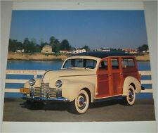 1940 Oldsmobile 60 Woody Station Wagon car print (yellow)