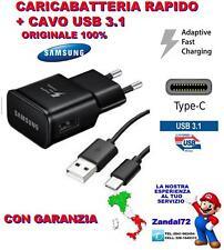 CARICABATTERIA RAPIDO EP-TA20EWE + CAVO USB 3.1 TYPE-C A3 A5 A7 PRODUZIONE 2017