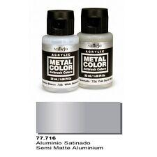 Vallejo Paints Metal Color VLJ-77716 Semi Matte Aluminum Metal Color 32ml