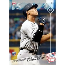 2017 TOPPS NOW #168 AARON JUDGE FASTEST ROOKIE TO 15 HRs SINCE 1987