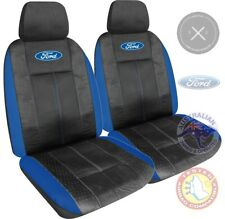 FORD BLUE SEAT COVERS BA BF FG FALCON, XR6, XR8,All Makes, Leather Look