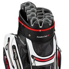 Founders Club Waterproof Premium Cart Bag 14 Way Organizer Divider Top White