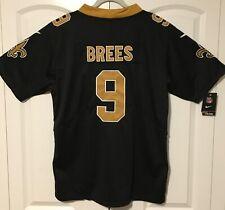 Drew Brees New Orleans Saints Men's Black Jersey Sizes S-3XL Free Shipping