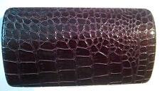 Sunglass case large Deep Purple crocodile effect material new