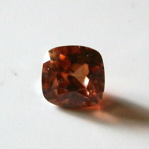 Natural bronze zircon...quality cushion cut gem...0.65 Carat