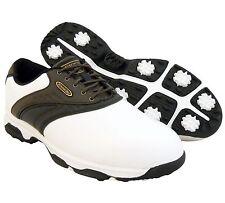 New Etonic Men's G-Sok III 3 Golf Shoes Sport Boot ~White/Brown/Black *11/44