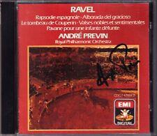 PREVIN Signed RAVEL Valses Rapsodie Espagnole Alborada Le Tombeau de Couperin CD