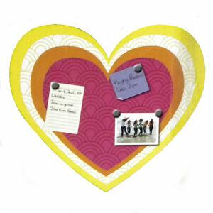 Jonathan Adler Magnetic Message Board Back to School Die Cut Hearts Metal
