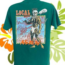 Hawaiian Strength Local Boy No Ka Oi Vintage 90s T-Shirt Two-Sided M Made In USA