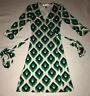 Diane von Furstenberg Vintage Womens Silk Wrap Dress - Size 0