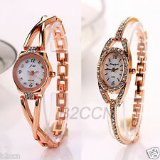 Fashion Women Ladies Bracelet Watch Analog Stainless Steel Quartz Wrist Watches