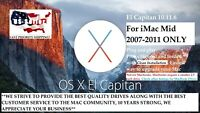 SSD Drive for iMac Mid 2007-2011 ONLY.  120GB, 3.5 Adapter with El Capitan 10.11