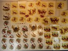 Konvolut 61 Schiebebilder Abziehbilder Tiere Waldtiere zum Dekorieren Einbrennen