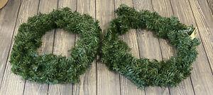 "Vickerman Company Set Of 2 16"" Mini Pine Wreath Christmas Decor"