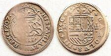 Carlos III (Pretendiente). 2 Reales. 1707. Barcelona. MBC+/VF+. Plata. 4,7 g.