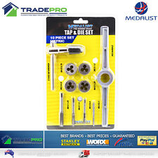 Tap and Die Set 10pc PRO Quality Medalist® Metric in Case with T Tap and Handle