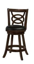 Solid Wood Merlot Swivel Counter Height Chair by Coaster 101929 - Set of 3