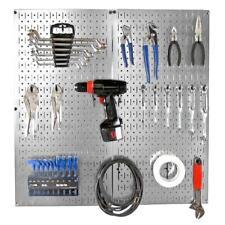 32 in. x 32 in. Metal Pegboard Starter Organizer Galvanized Steel Storage Kit